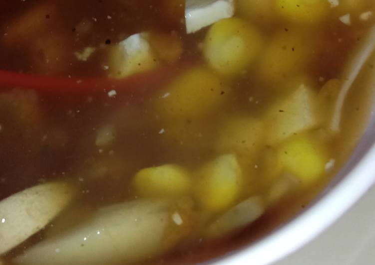 Easiest Way to Make Quick Sweet corn soup