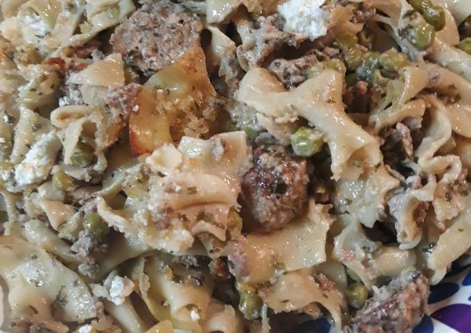 Lamb and Beef Noodle Casserole