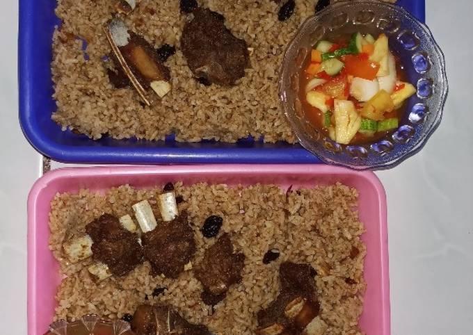 Nasi Kebuli Kambing bumbu Instan