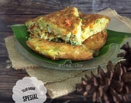 Telur Dadar Spesial - Telur Dadar Tebal - menu simple - Telur dadar padang