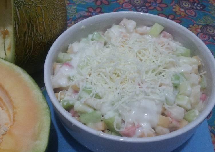 Salad buah tanpa whipp cream