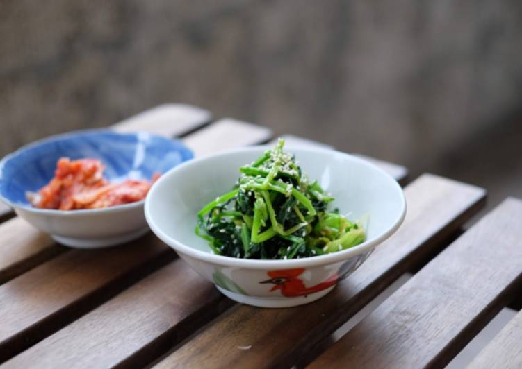 How to Make Award-winning Korean spinach salad