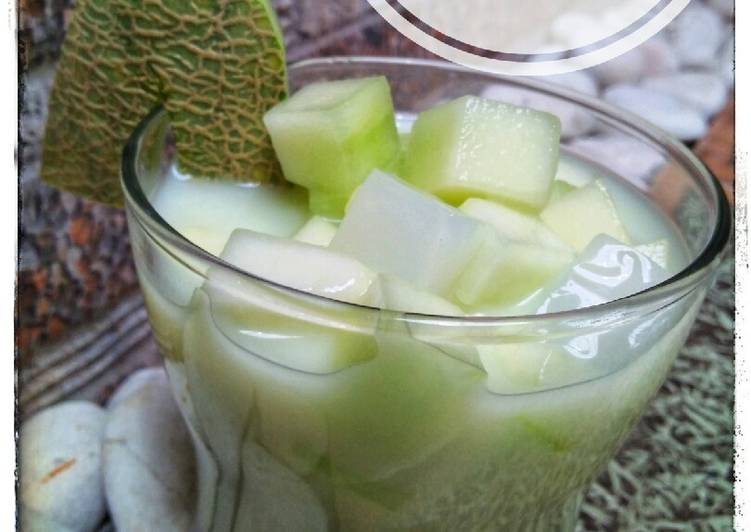 Es Melon Susu Indomilk