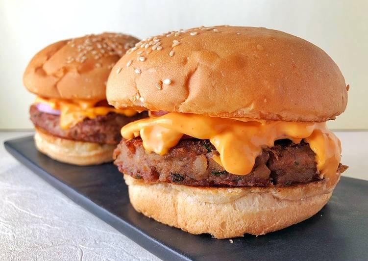 Veggie Bean Burger - Laurie G Edwards