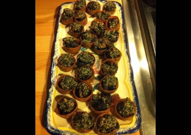 Croustades d escargots au beurre d ail et persil