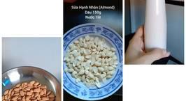 Hình ảnh món Cách làm sữa Hạnh Nhân tai nhà
