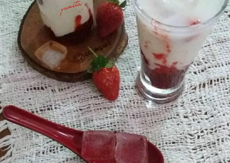 Cara membuat Korean Strawberry Milk