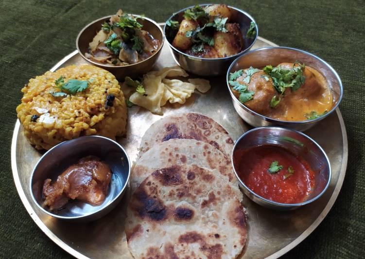 Simple Way to Make Any-night-of-the-week Kathiyawadi Lunch