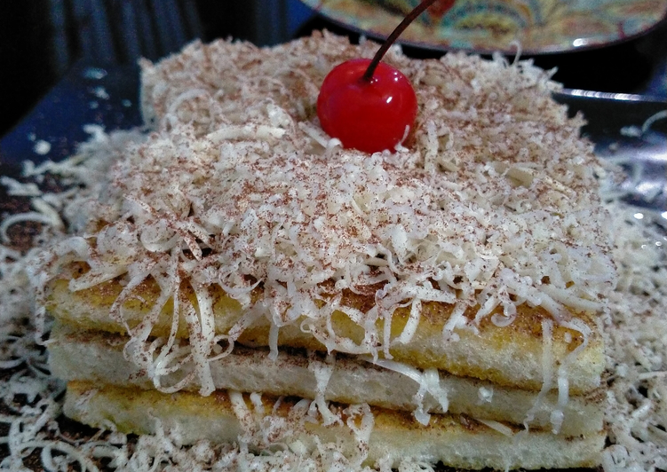 Roti Panggang Teflon Milo Keju