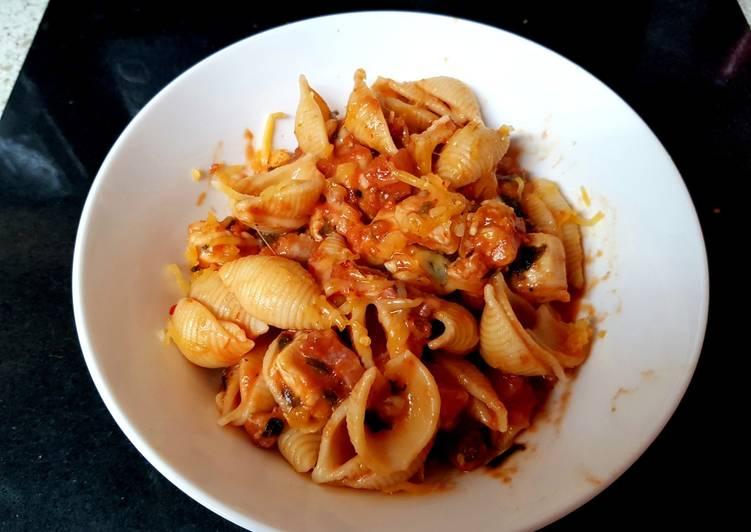 Recipe: Tasty My Chicken & Lardons Pasta Shells. 😁