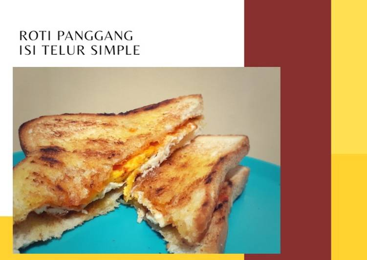 [43] Roti Panggang Isi Telur Simple