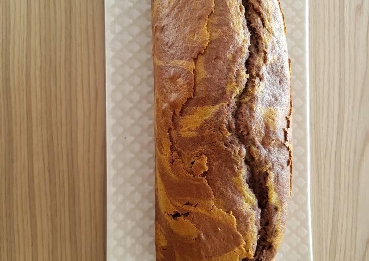 Cake marbré choco-matcha
