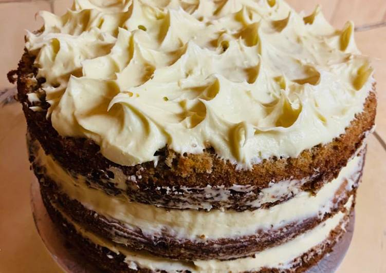 Recipe of Most Popular Carrot Cake with Cream Cheese Frosting💝
