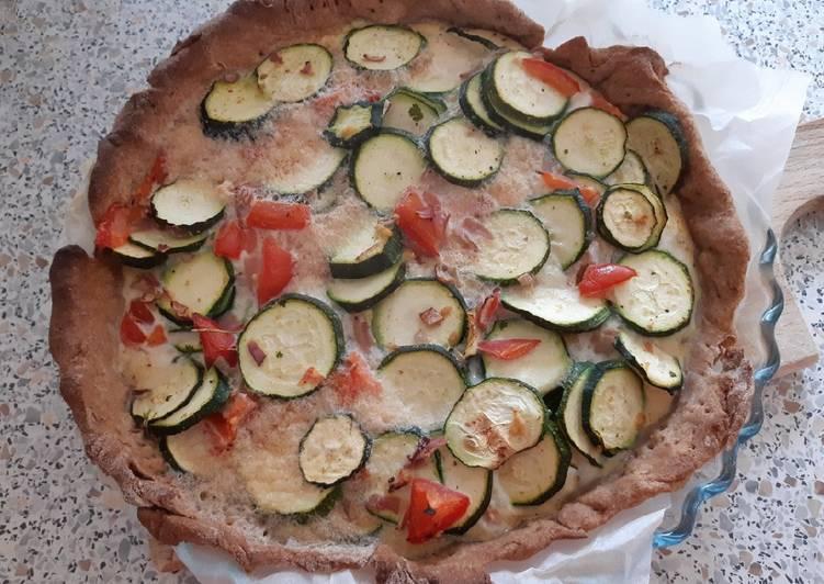 Recette Des Tarte à l'épeautre aux courgettes et tomates