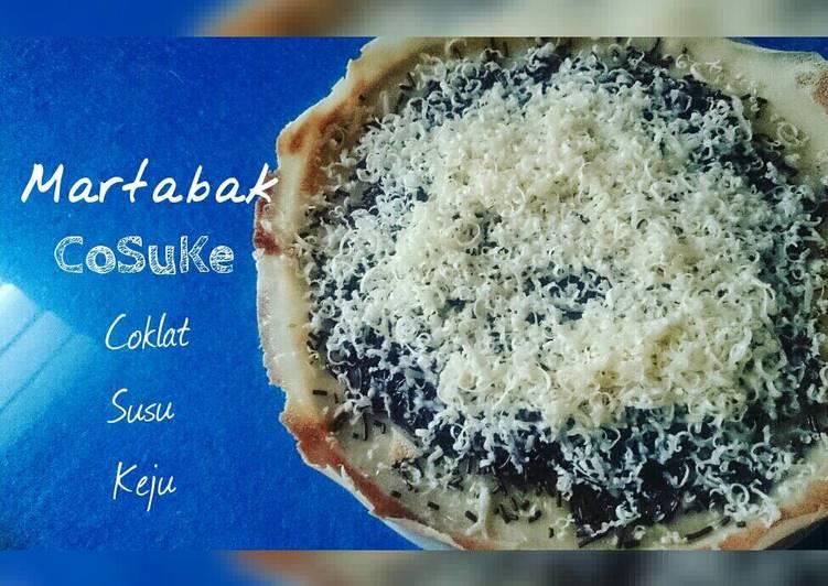 Langkah Mudah untuk Membuat Martabak Manis CoSuKe (coklat susu keju) Lembuuuttt 😍😍, Enak Banget