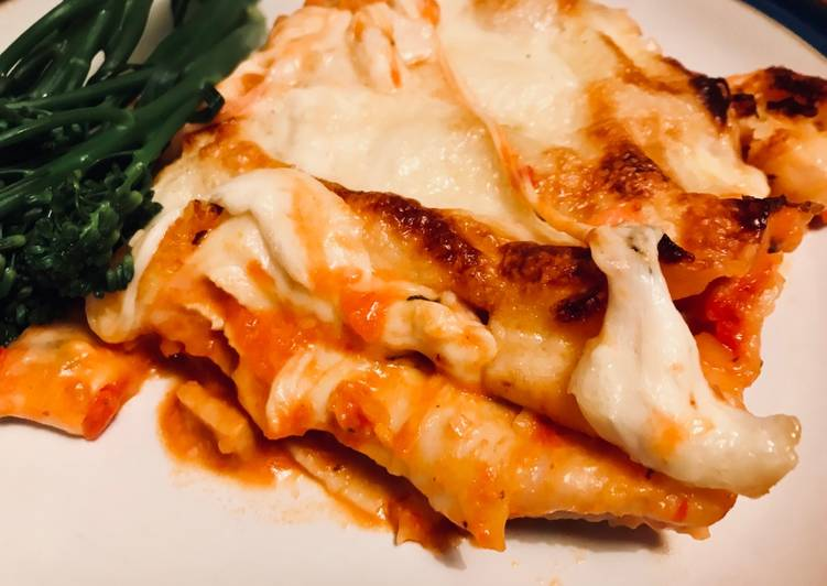 Three-Cheese Vegetable Lasagne