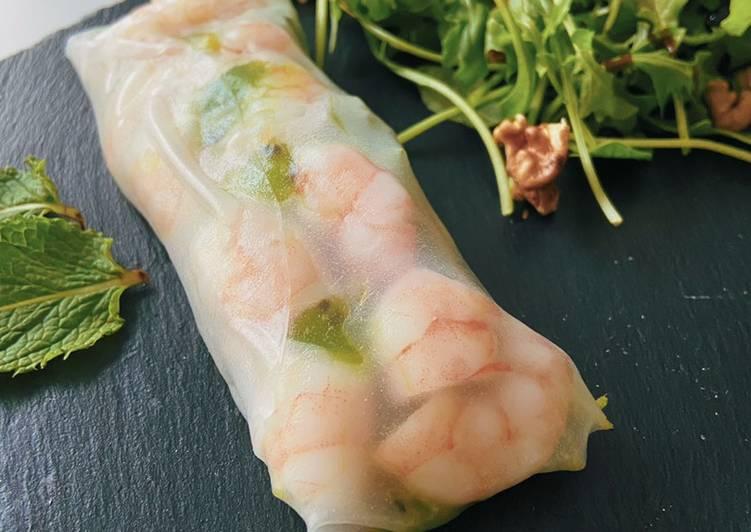 La Meilleur Recette De Rouleau de printemps à la crevette et au kiwi 🥝