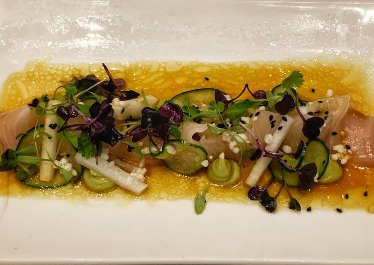 Cured Kingfish with Avocado Picked Jicama - Laurie G Edwards