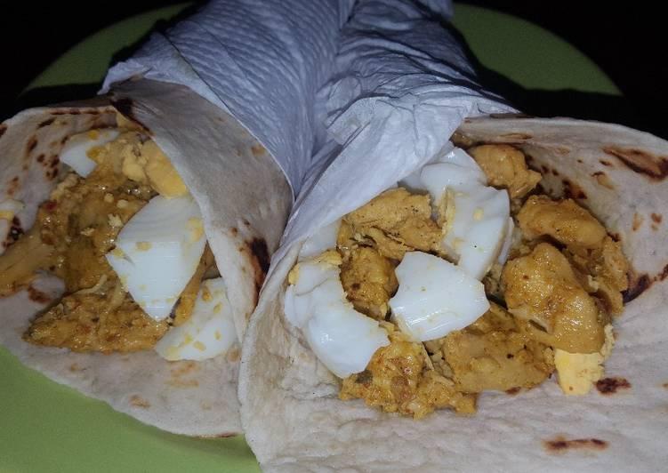 Burritos (Criollos.) De pollo al curry