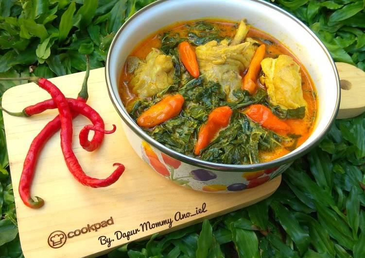 Gulai Pedas Daun Singkong with Ayam