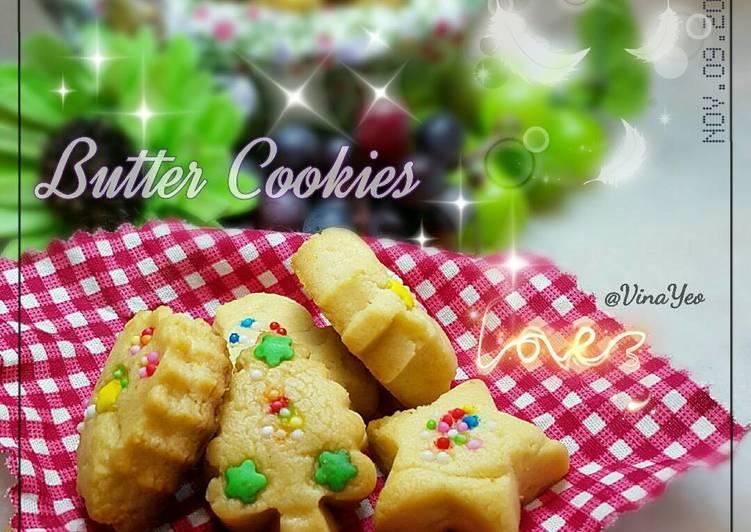 Butter Cookies 🍪(3Bahan saja) 😄