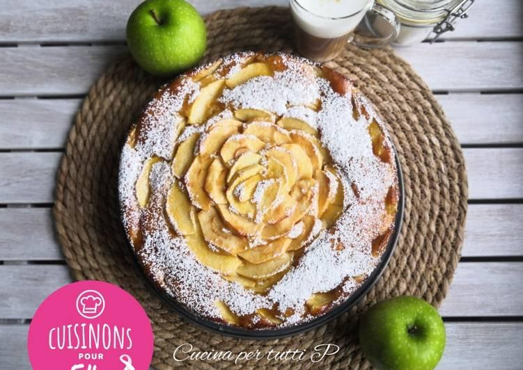 Gâteau pommes et Mascarpone