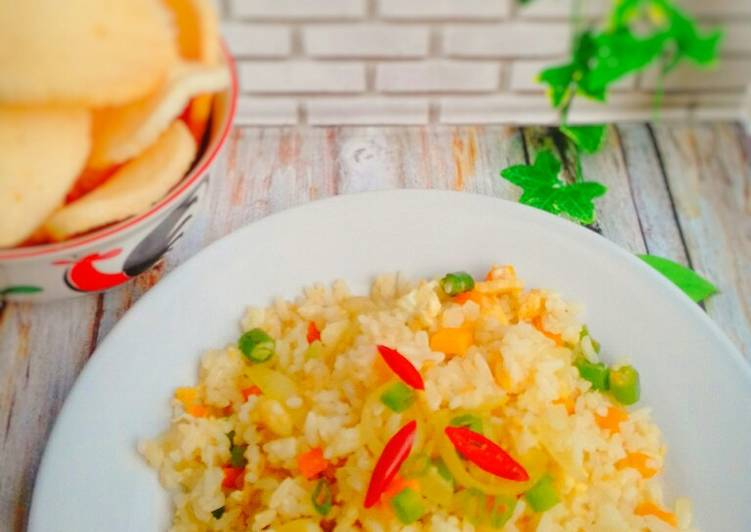 Resep Mix Vegetable Fried Rice/nasi goreng sayuran Paling Top
