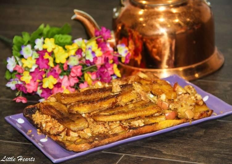 Sweet Plantain & Apple Breakfast Bake