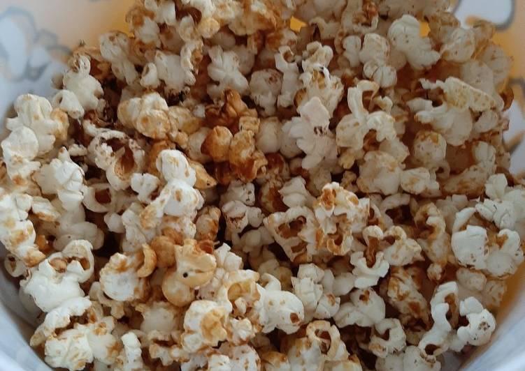 Simple Way to Make Favorite Caramel popcorn