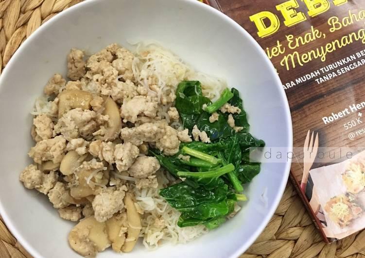 Mie Ayam Bangka ala DEBM / Keto