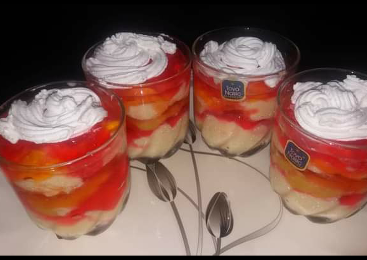 Step-by-Step Guide to Prepare Homemade Custard trifle