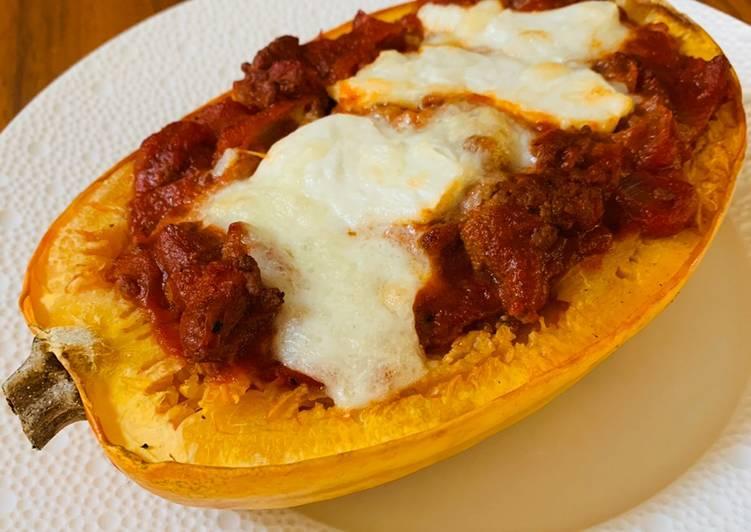 Recette De Courge spaghetti à la bolognaise