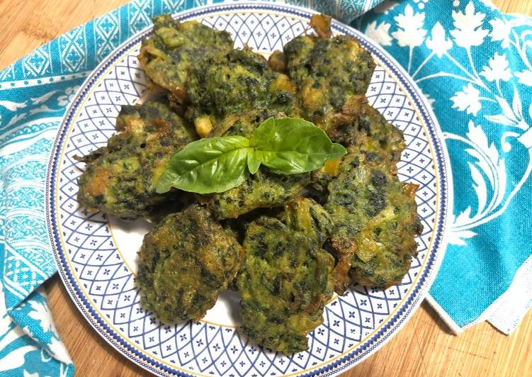 Ricetta Frittelle ricotta  e spinaci #iorestoacasa #piattodiriciclo