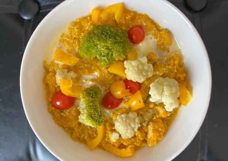 Steam Pumpkin Chicken Porridge Healthy Menu (Dairy Free, MSG Free, Diet Friendly)