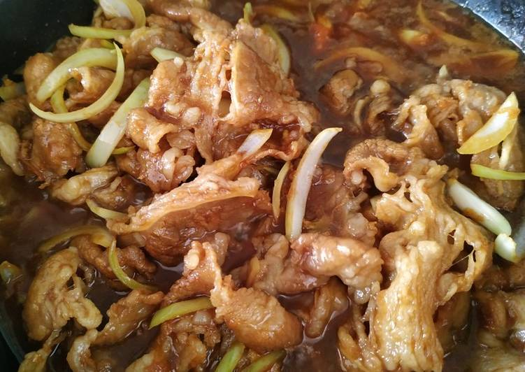 Beef slice yakiniku