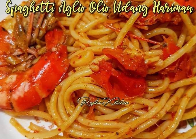 Spaghetti Aglio Olio Udang Harimau