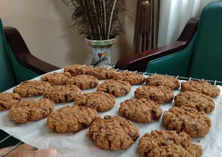 Bagaimana Menyiapkan Diet oat cookies chocochip Anti Gagal