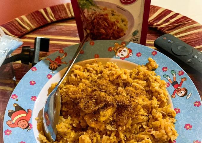 Nasi Goreng Abon Sederhana