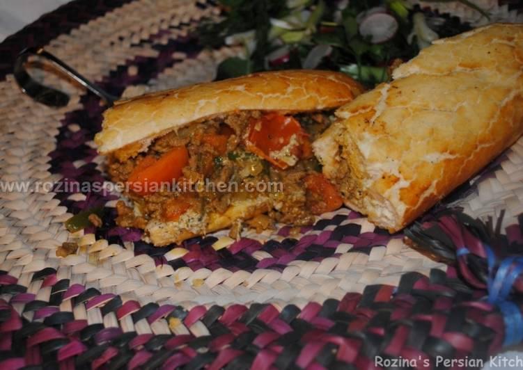 How to Make Perfect Persian pan fired kebab with aubergine sauce کباب تابه ای با سس بادمجان