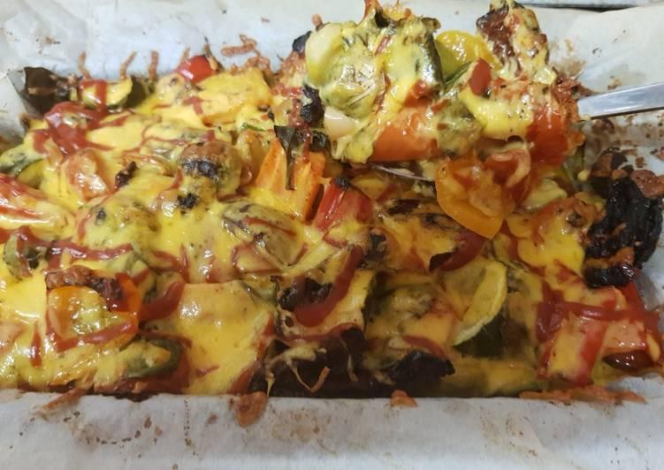 My Roast Veggie cheesey bake. 💚