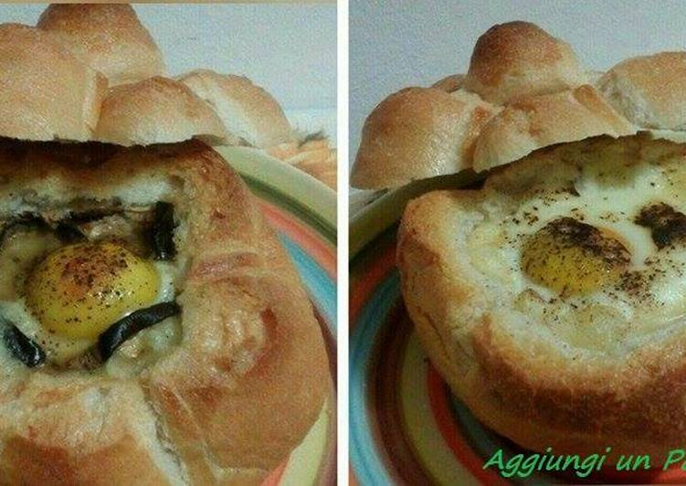 Ricetta Rosette ripiene di uova, scamorza e melanzane #cookpaditalia