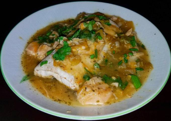 Recipe: Yummy Mike's 5 Minute Smothered Green Chili Chicken Burritos