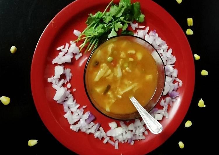 Mix veg Tomato corn soup