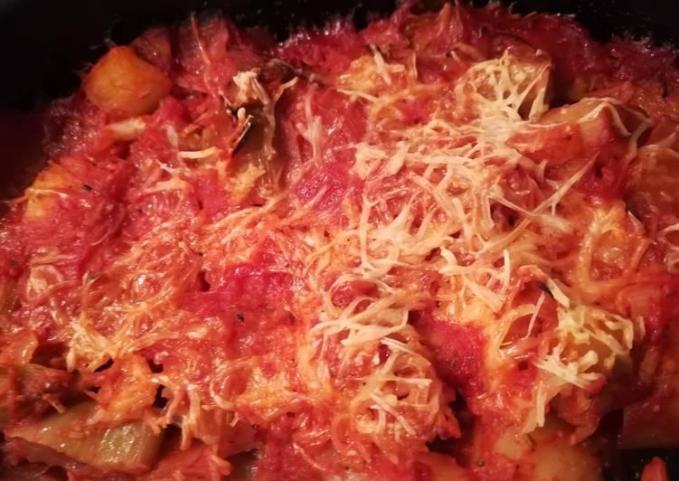 Gratin de poireaux à la tomate
