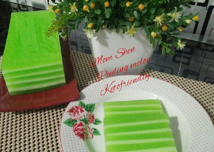 Puding melon whipping cream #ketofriendly