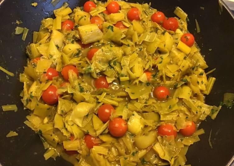 Recipe of Perfect Fondue de poireaux au curry et tomates cerises