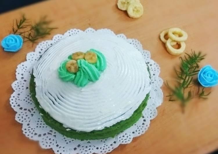 Spinach Banana Cake