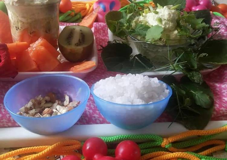 Recipe of Award-winning Shrikhand salad of herbal and fruit-nuts
