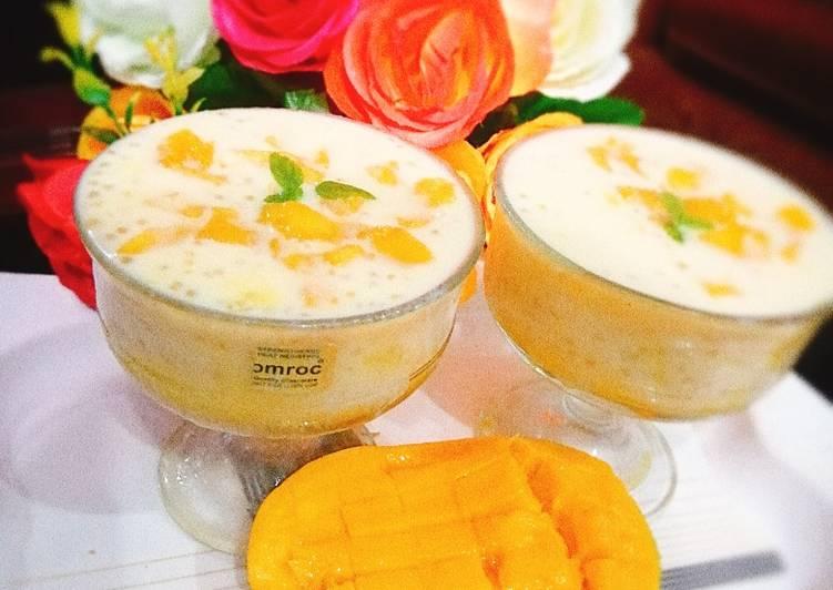 Simple Way to Prepare Homemade Mango tapioca drinks🥭