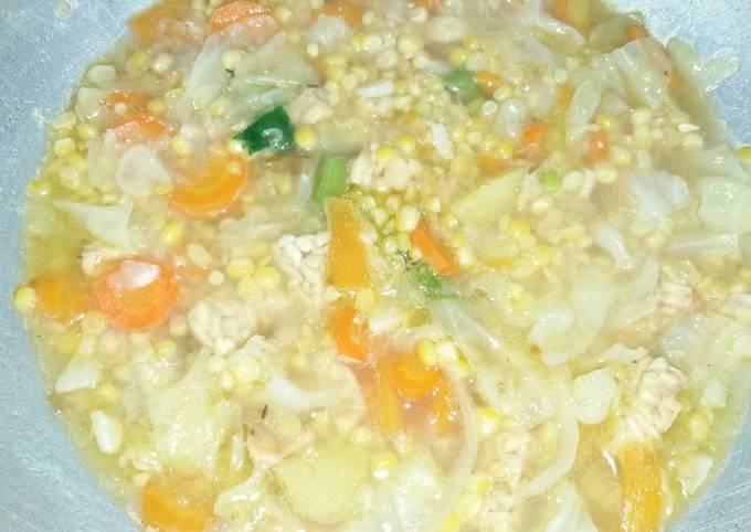 Tumis sayur sop nikmat